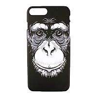Чехол-накладка пластик DK-Case Luxo BlackWhite luminescent для Apple iPhone 7   8 Plus Шимпанзе 0, КОД: 1750823