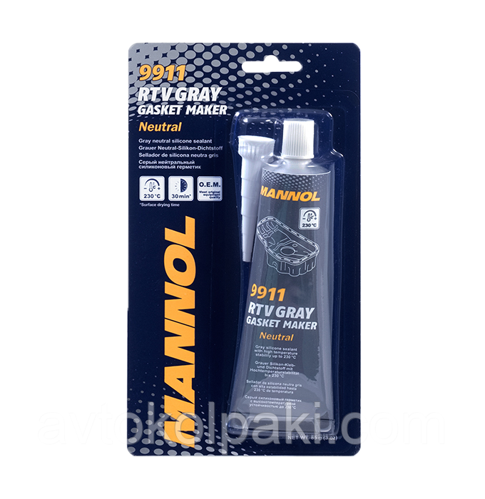Герметик прокладок серый MANNOL RTV Gasket Market Gray Neutral  85г