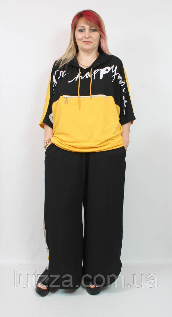 Женский костюм из трикотажа  Darkwin (Турции) 58 - 70 р двухцветный