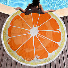 Кругле пляжний рушник Апельсин (150 див.)