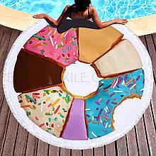 Кругле пляжний рушник Пончик асорті (150 див.)