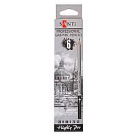 Набор чернографитных карандашей Santi Highly Pro, 6 шт. 742382
