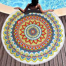 Кругле пляжний рушник Орнамент-2 (150 див.)