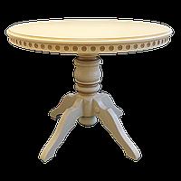 Стол обеденный Клевер Мебель 800х760х800 мм Слоновая кость hubIiKd26907, КОД: 1786997