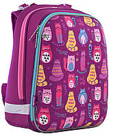 Рюкзак школьный каркасный 1 Вересня H-12 Cute cats 556024