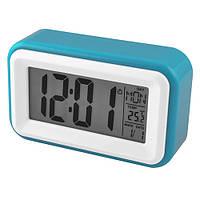 Настольные электронные часы Atima AT-608 3хААА Бело-голубые 30-5752, КОД: 1749651