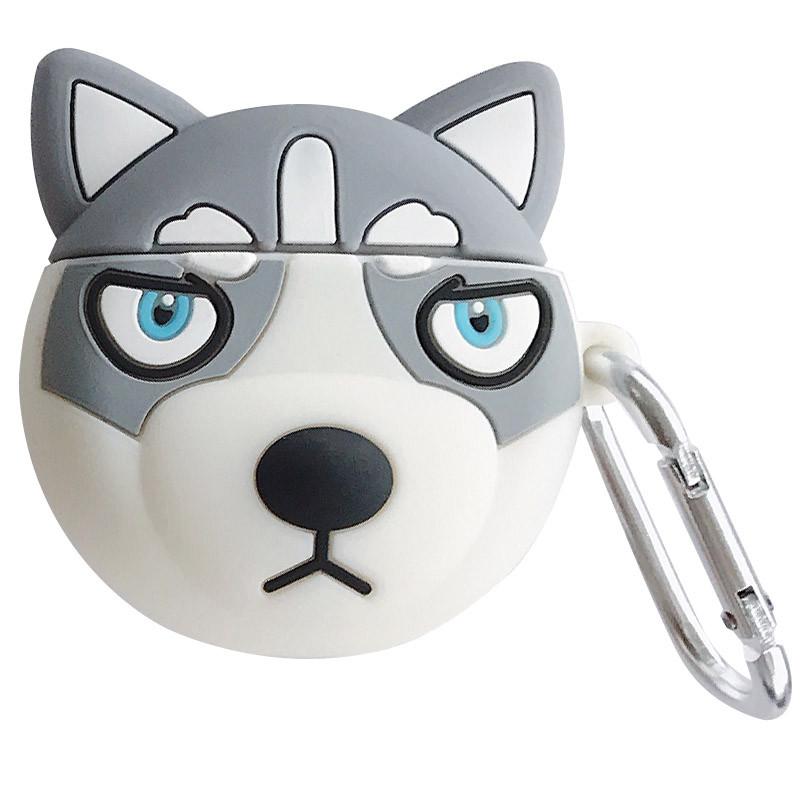 Силиконовый футляр Husky для наушников AirPods + карабин