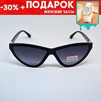 Очки женские солнцезащитные поляризованные фигурные +подарок часы +чехол очки фигурные, очки узкие
