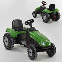 Трактор педальный клаксон на руле, сидение регулируемое, колеса с резиновыми накладками, в коробке