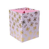 Стакан для ручек YES Donna, картонный, фольга 470459