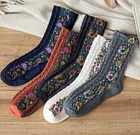 Носки женские модные с вышивкой