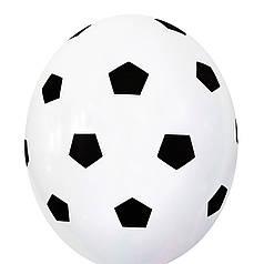 """2109 Шар 12"""" (30 см) Футбольный мяч на белом (Belbal)"""