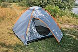 Намет Treker MAT-115 тримісна, двошарова туристична, фото 9
