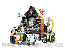 Конструктор JVToy 16007 Будинок-вулкан Гармадона 689 деталей (Ninjago)