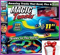 Детская гибкая игрушечная дорога Magic Tracks 220 деталей, детский конструктор, автотрек, гоночный трек