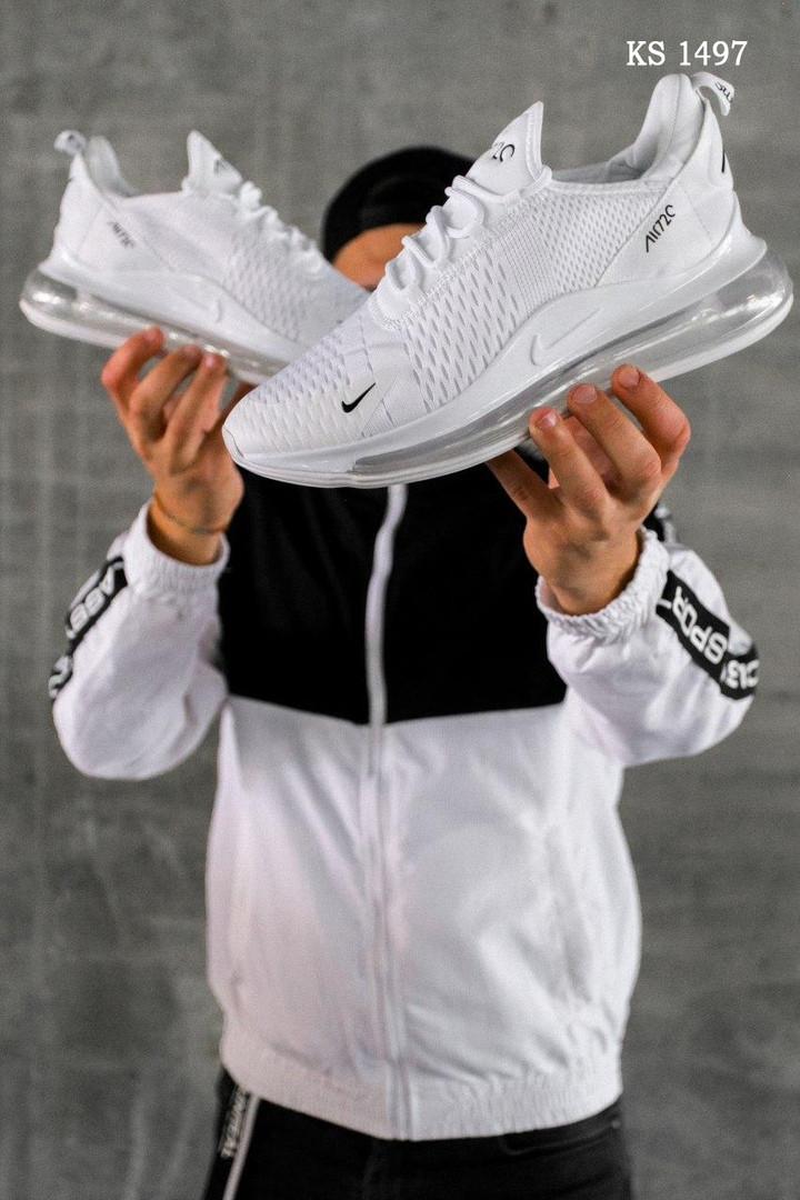 Чоловічі кросівки Nike Air Max 270 (білі) KS 1497