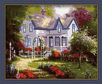 """Раскраска по номерам Идейка """"Дом весной"""" худ. Кинкейд Томас (MG061) 40 х 50 см"""