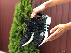 Літні кросівки Adidas Equipment,сітка, чорні з м'ятним, фото 2