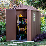 Садовий будиночок сарай Keter Darwin 4x6 Shed, фото 7