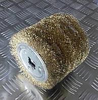 Щетка барабан 100х100мм из стальной проволоки для браширования
