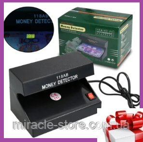 Детектор валют настільний Money Detector AD-118AB,ультрафіолетова лампа для водяних знаків