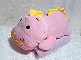 "Подушка- плед ""Динозаврик"" цвет розовый, фото 2"