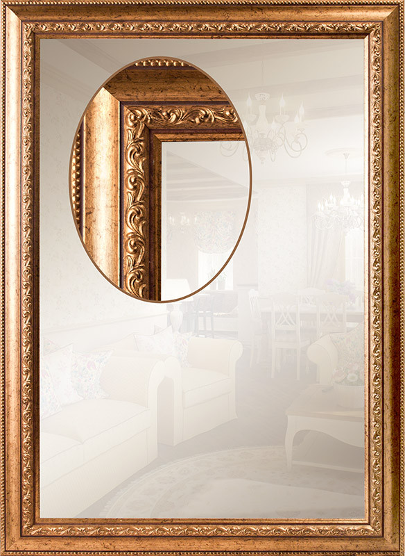 Зеркало в багете, для прихожей, для ванной