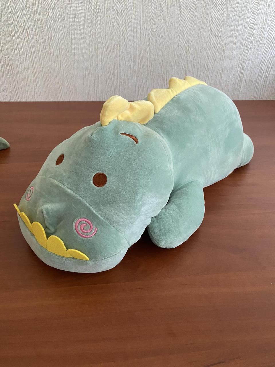 """Плед - мягкая игрушка """"Динозаврик"""" мятный"""