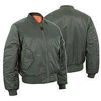 Куртка Бомбер льотна US FLIGHT JACKET ′MA1® STYLE′ Оливкова