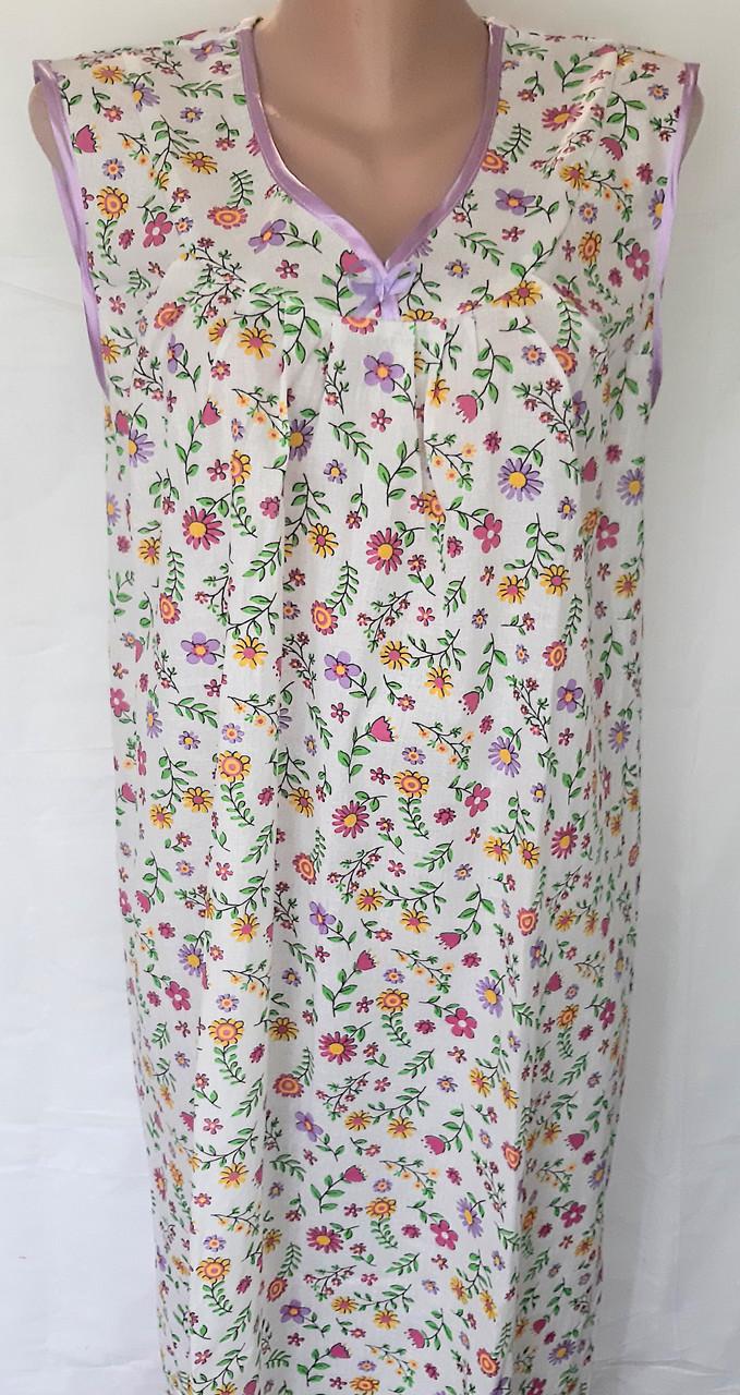 Ночная рубашка без рукава 54 размер