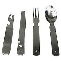 Столовий набір сталевий 4 елементи GER. TSR 4-PC S/STEEL EATING UTENS. Сріблястий