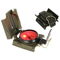 Компас з підсвіткою US METAL COMPASS WITH LED LIGHT Оливковий