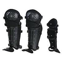 Наколінники комплексні для захисту колін та голені ANTI RIOT LEG PROTECTION Чорні, фото 1