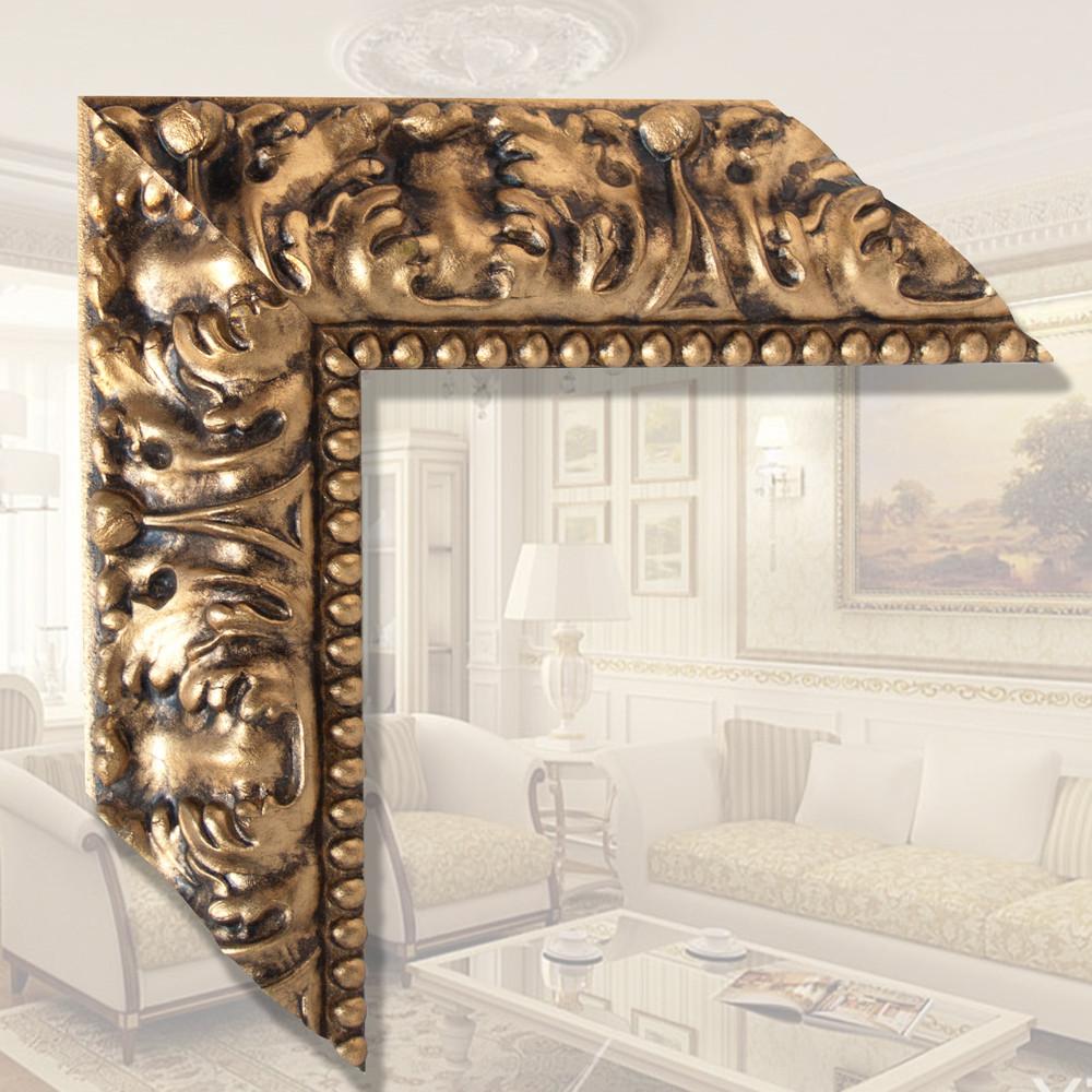 Зеркало настенное в деревянной раме, влагоустойчевое