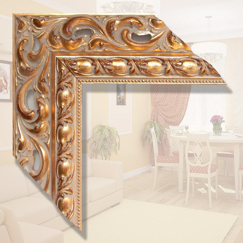 Зеркало в деревянном итальянском багете 90мм