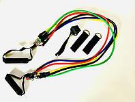 Эспандер многофункциональный трубчатый, 5 жгутов, фото 1