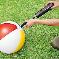 Ручной насос Intex 29 см для накачивания мячей, подушек, плавательных кругов и жилетов, пляжных матрасов