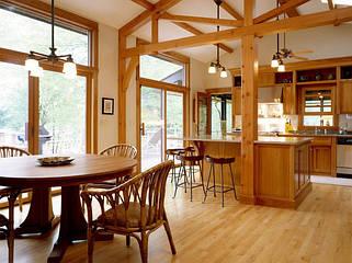 Интерьеры из дерева, деревянный декор