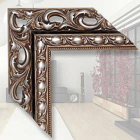 Зеркало в деревянном багете 90мм