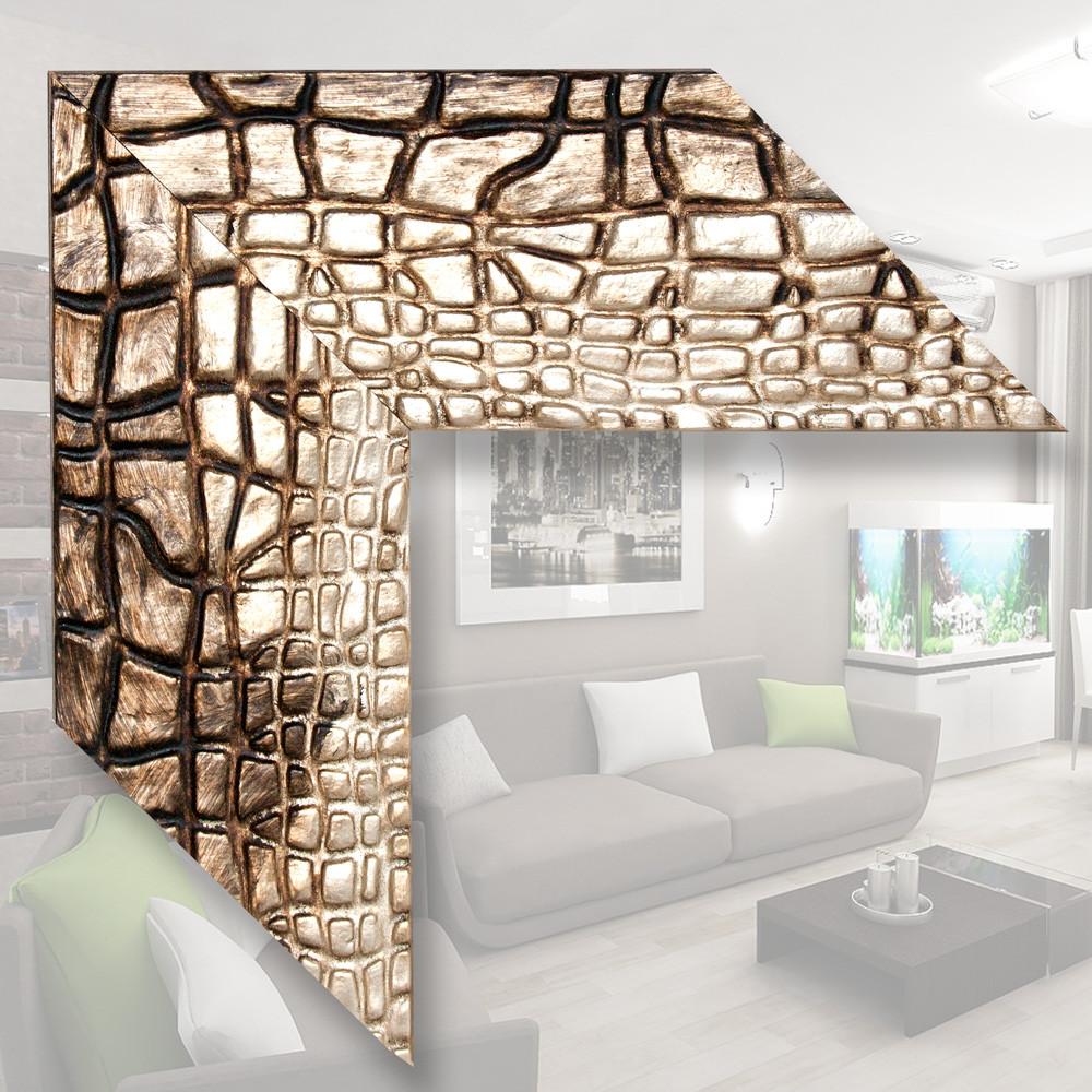 Зеркало в деревянном багете 101мм