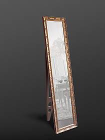 Напольное зеркало в золотом цвете 1650х400 мм