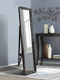 Зеркало с ножкой 1650х400мм, черное