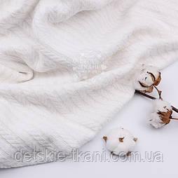 """Бавовняне полотно """"косичка"""" білого кольору, ширина 230 см"""