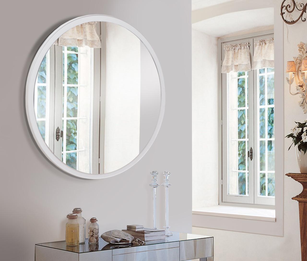 Зеркало 800мм белое
