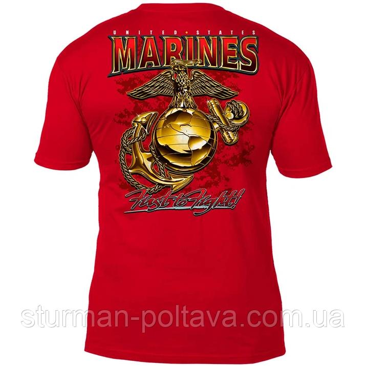Футболка  мужская  морская  красная 7.62 Design USMC 'Eagle, Globe & Anchor' V2 размер XL