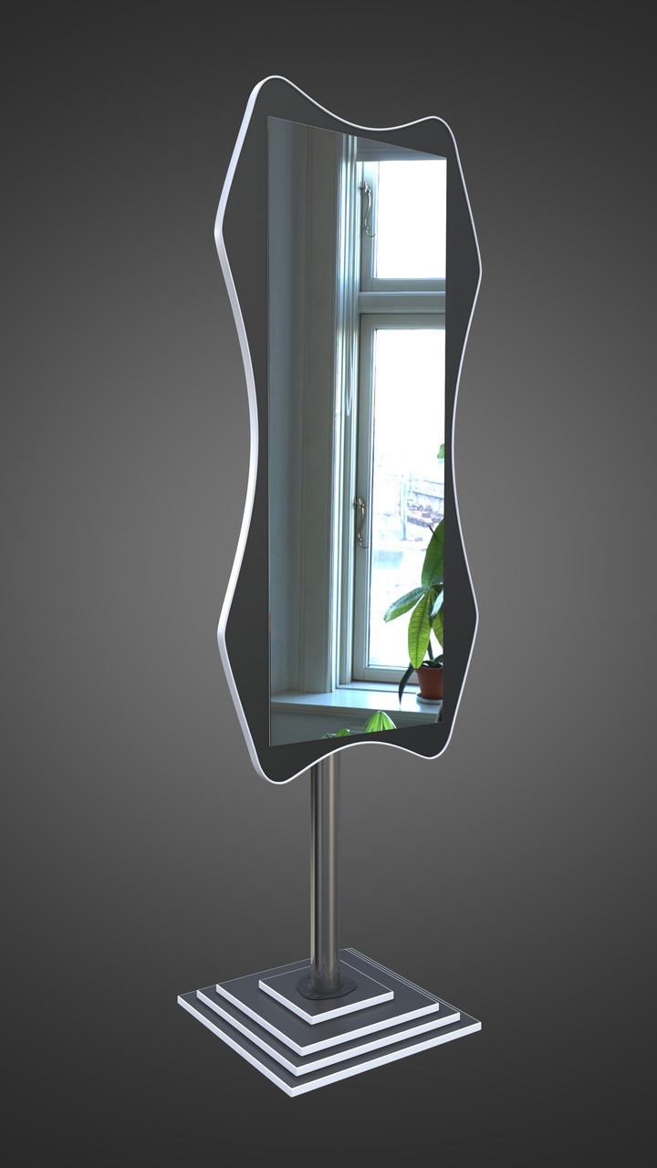 Черно белое зеркало на ножке