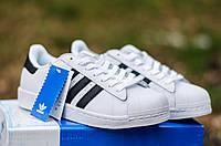 Кроссовки Adidas Superstar White Gold (Адидас Суперстар бело-золотые) женские и мужские размеры: 36-45 Top 301