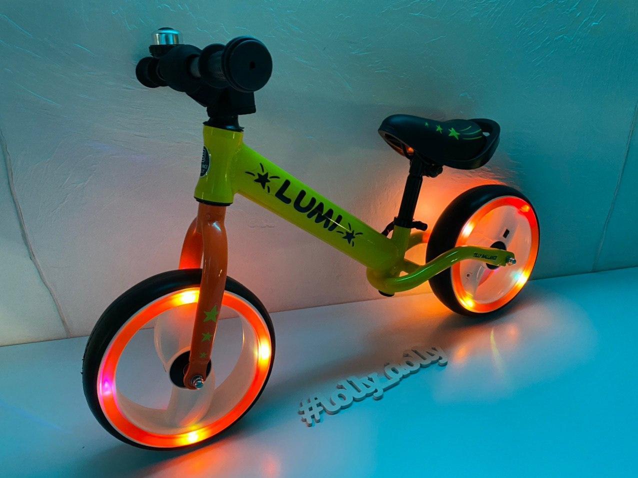 Беговел Tilly Balance Lumi светящ колеса, Yellow