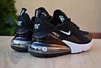 Жіночі кросівки Nike Air Max 270 (чорно-білі) 2893, фото 4