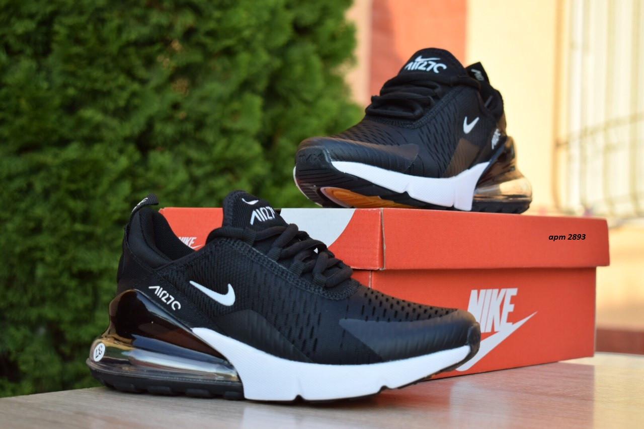 Женские кроссовки Nike Air Max 270 (черно-белые) 2893